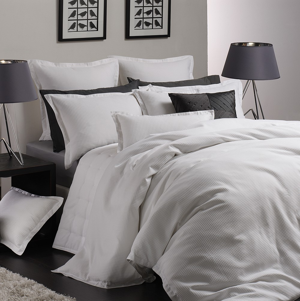 Best Price Linen Ascot White By Logan Amp Mason Quilt Covers