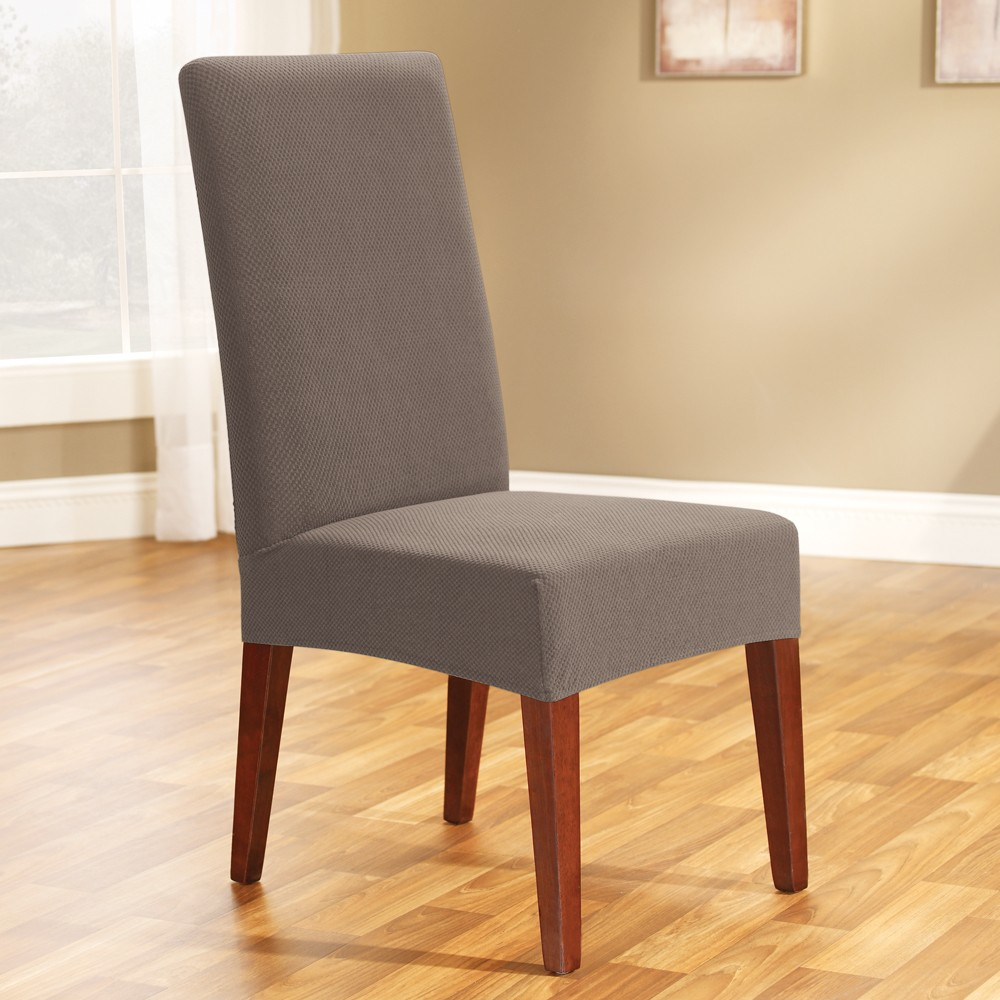 Best Price Linen Taupe Dining Chair Cover By Surefit