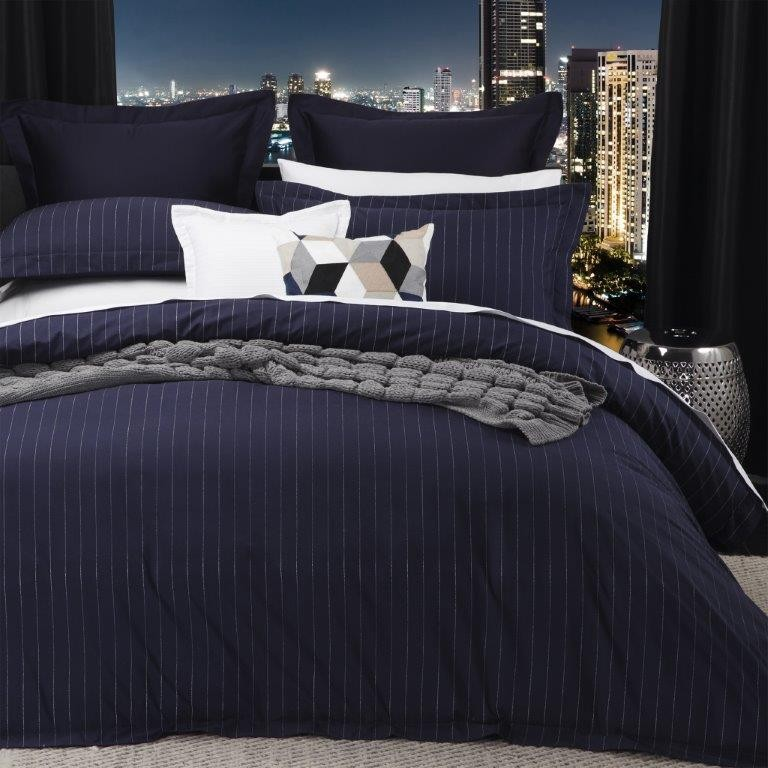 Best Price Linen Spencer Navy By Logan Amp Mason Quilt