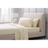 1000 Thread Count Hotel Weight Luxury Cotton Sateen Sheeting Range in Chalk by Sheridan