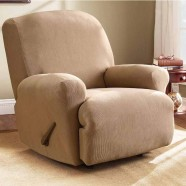 Dark Flax Recliner Chair Cover by Surefit