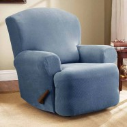Federation Blue Recliner Chair Cover by Surefit