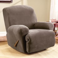 Taupe Recliner Chair Cover by Surefit