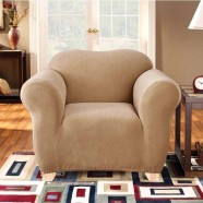 Dark Flax 1 Seater Chair Cover by Surefit