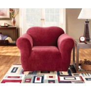 Red 1 Seater Chair Cover by Surefit