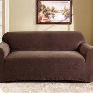Coffee 2 Seater Couch Cover by Surefit