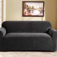 Ebony 2 Seater Couch Cover by Surefit