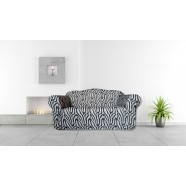Zebra 2 Seater Couch Cover by Surefit