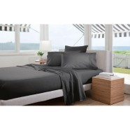 300 Thread Count Classic Percale Sheeting Range in Charcoal by Sheridan
