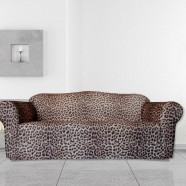 Leopard 3 Seater Couch Cover by Surefit