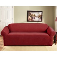 Red 3 Seater Couch Cover by Surefit