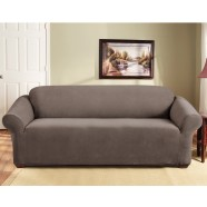 Taupe 3 Seater Couch Cover by Surefit