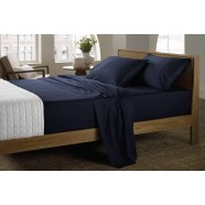 400 Thread Count Soft Sateen Sheeting Range in Midnight by Sheridan