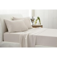 400 Thread Count Soft Sateen Sheeting Range in Sand by Sheridan