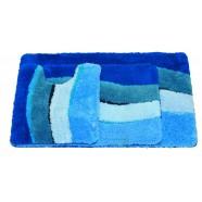 Microfibre Wave Blue Bathmat Range