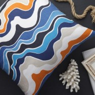 Bondi Ocean Square Cushion by Logan & Mason