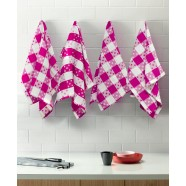 Cancer Fundraising Pink Dots set of 4 Teatowels