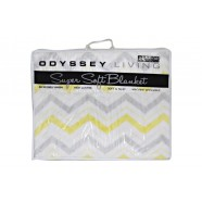 Fiesta Yellow Blanket Queen/King by Odyssey Living