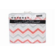 Fiesta Coral Blanket Queen/King by Odyssey Living