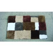 Microfibre Check Brown Bathmat Range