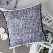 Finch Navy Square Cushion by Logan & Mason