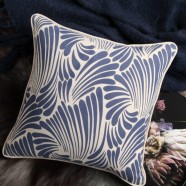Fingers Navy Square Cushion by Florence Broadhurst