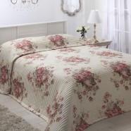 Garland Ivory Bedspread by Logan & Mason