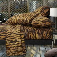 African Leopard 600 Thread Count Egyptian Cotton Sheet Set