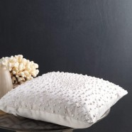 Oriana Pearl Square Cushion by Private Collection