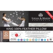 King 100% Feather Pillow by Logan & Mason