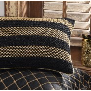 Raj Black Brunch Cushion by Da Vinci Private Collection