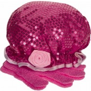 Cancer Fundraising Rose Shower Cap & Exfoliating Glove Set