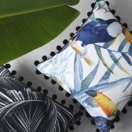 Toucan Ink Square Cushion by Logan & Mason