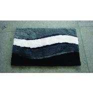 Microfibre Wave Grey Bathmat Range
