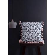 Yuki Navy Square Cushion by Logan & Mason