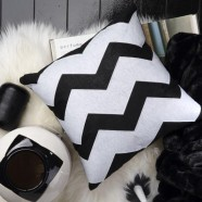 Zeke Black Square Cushion by Logan & Mason
