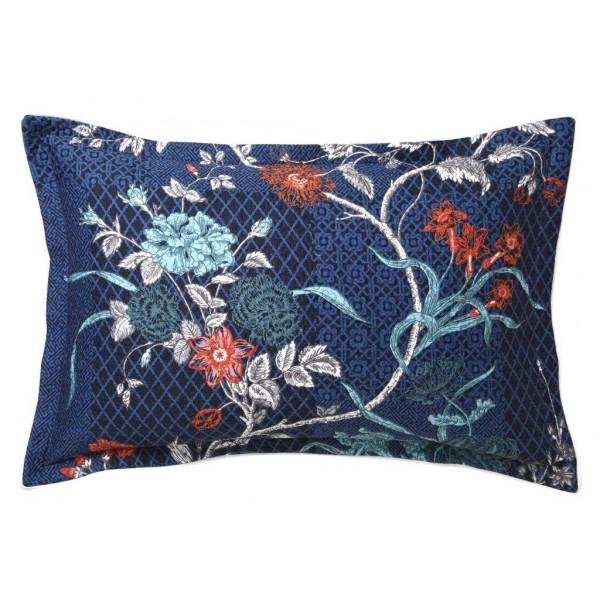 Spanish Floral Indigo By Florence Broadhurst Quilt