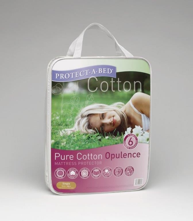 Pure Cotton Opulence Standard Pillow Protector by Protect a Bed