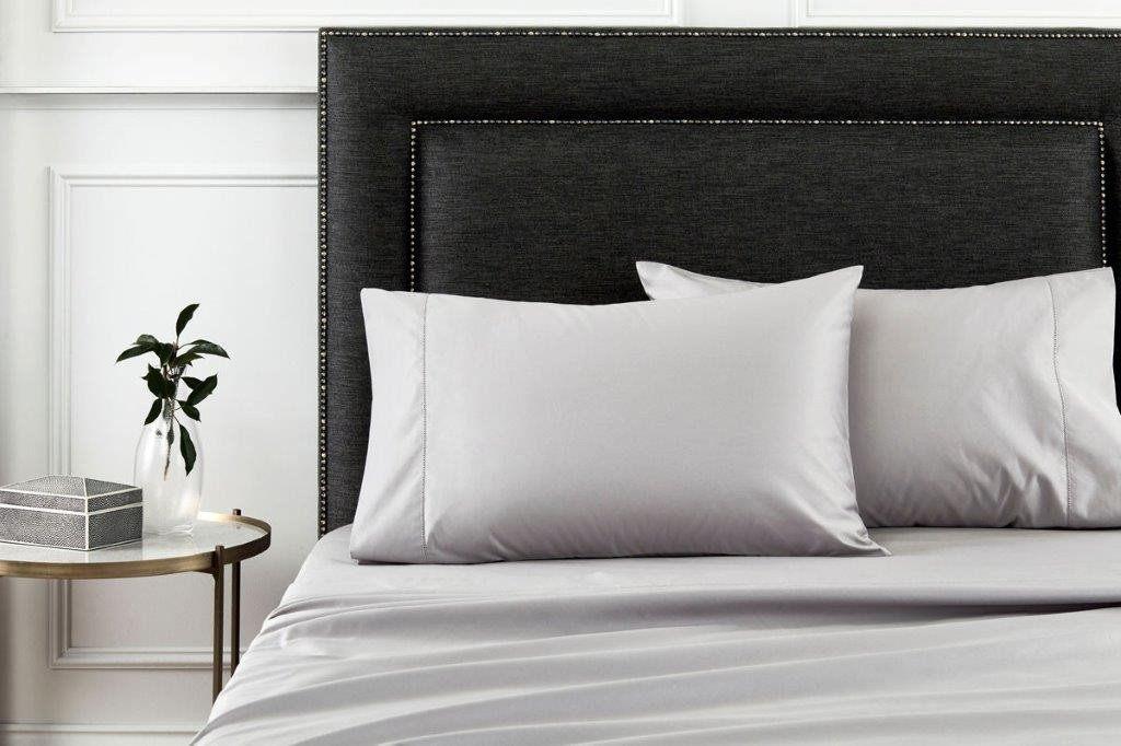 1000 Thread Count Hotel Weight Luxury Cotton Sateen Sheeting Range in Stone Grey by Sheridan