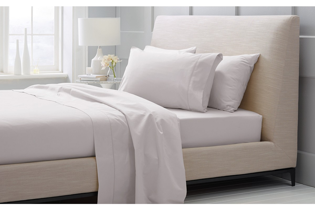 1000 Thread Count Hotel Weight Luxury Cotton Sateen Sheeting Range in Dove by Sheridan