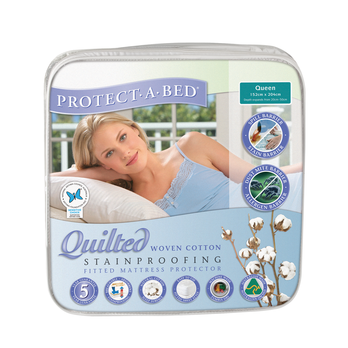 Cotton Quilted Mattress Protector & Pillow Protector Range by Protect A Bed