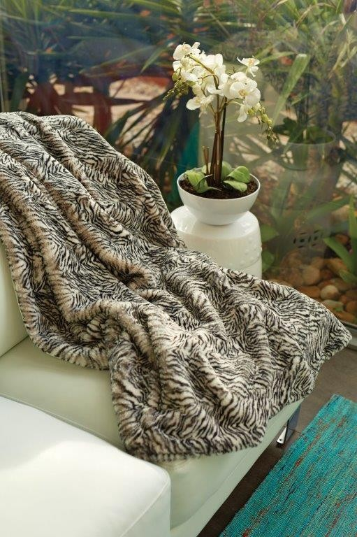 Luxury Animal Print Zebra Throw Rug by Jenny McLean