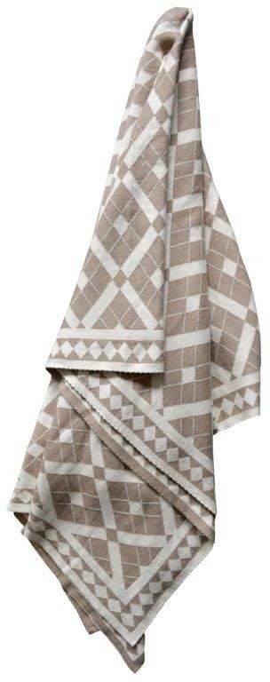 Claremont Reversible Knitted Throw Rug Stone