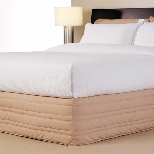 Extra Long Single Bed 250TC Quilted Valance By Logan U0026 Mason