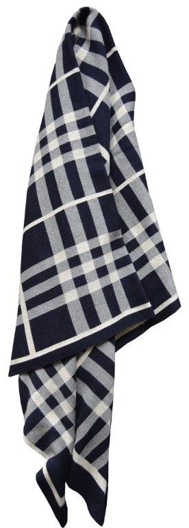 Tricote Knitted Throw Rug Navy