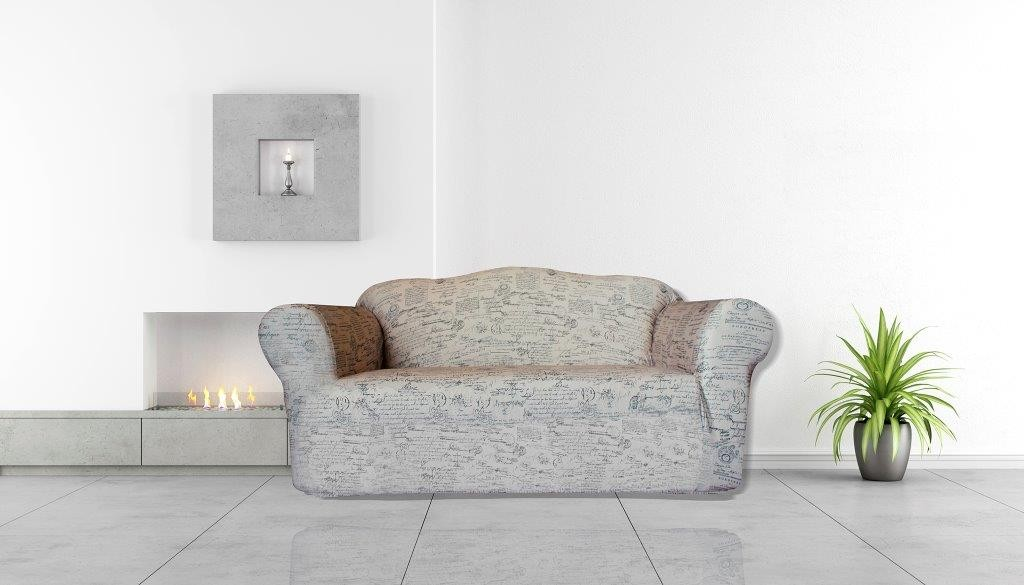 Signature Natural 2 Seater Couch Cover by Surefit