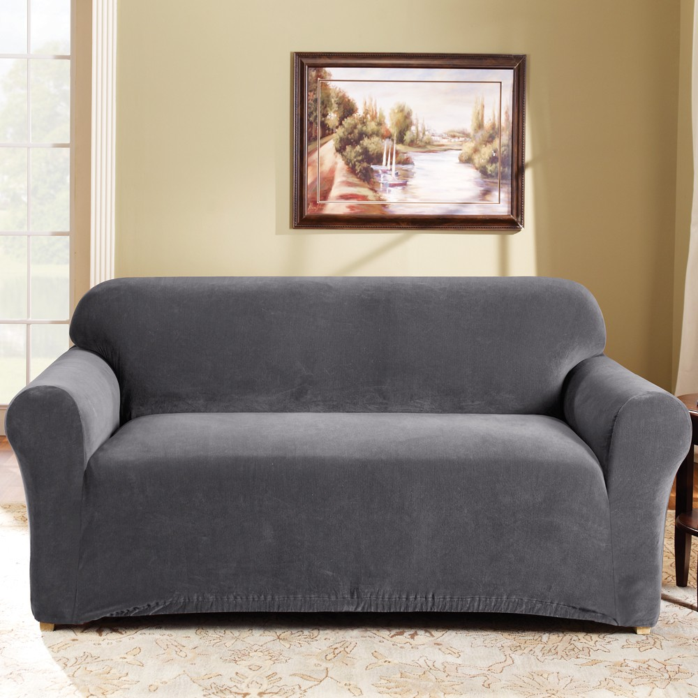 Slate 2 Seater Couch Cover by Surefit