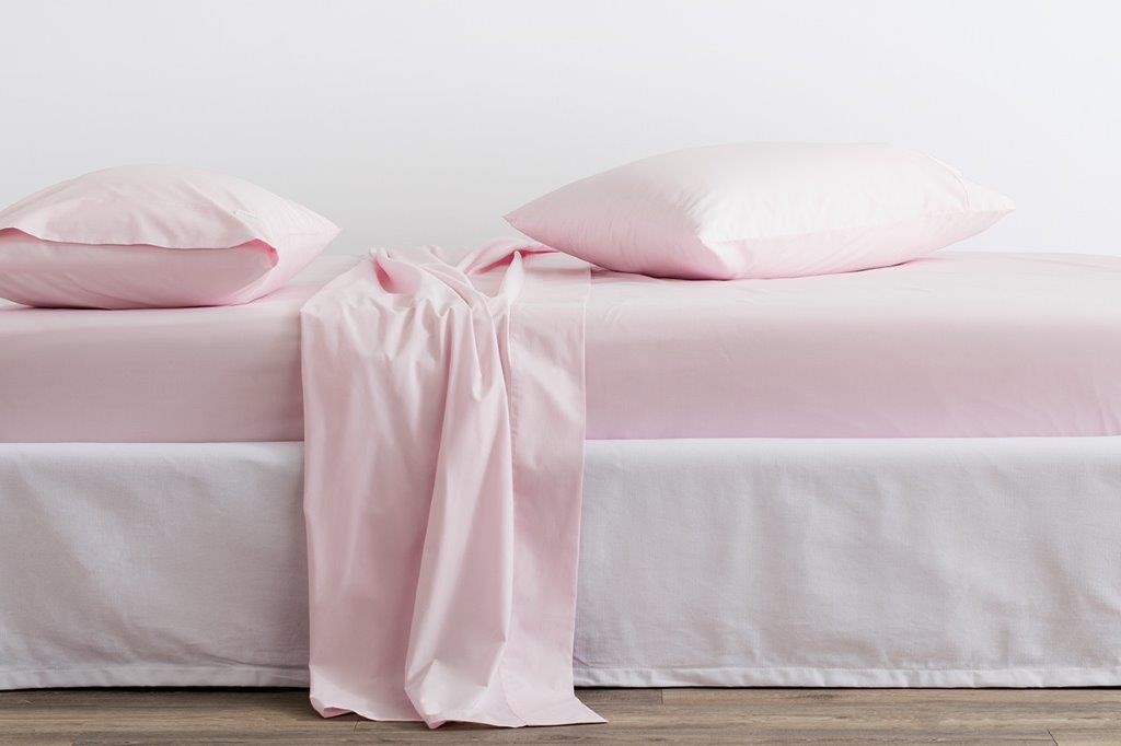300 Thread Count Classic Percale Sheeting Range in Blossom by Sheridan