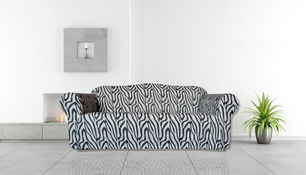 Zebra 3 Seater Couch Cover by Surefit