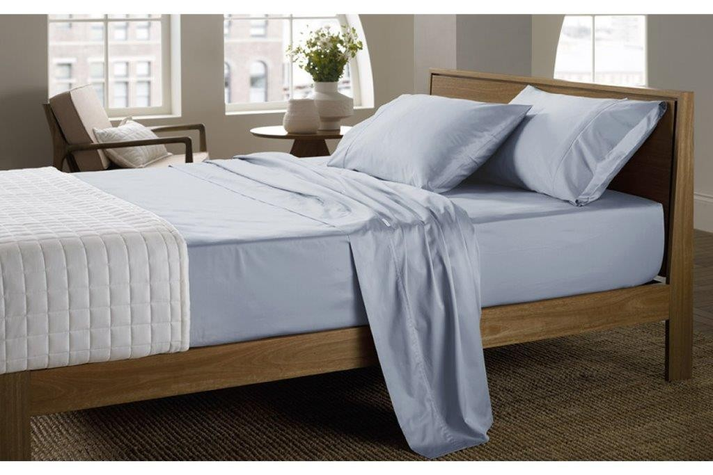 400 Thread Count Soft Sateen Sheeting Range in Chambray by Sheridan